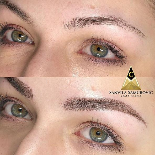 Microblading Augenbrauen Form